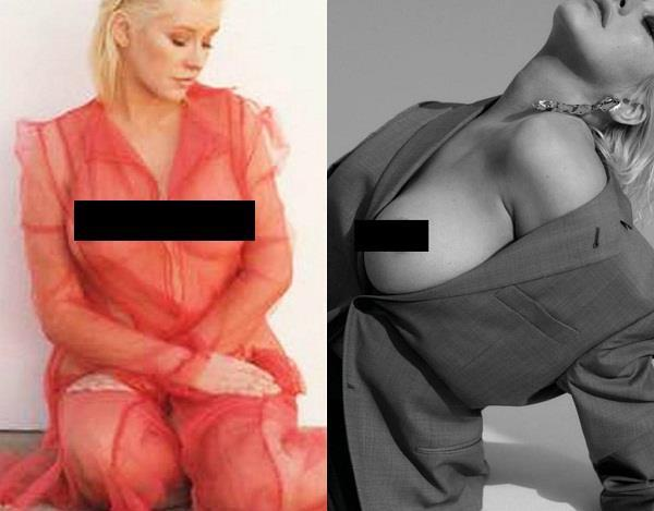 christina aguilera topless pictures
