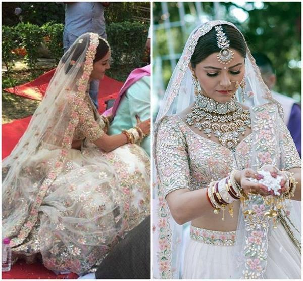 white bridal lehenga style ideas for brides