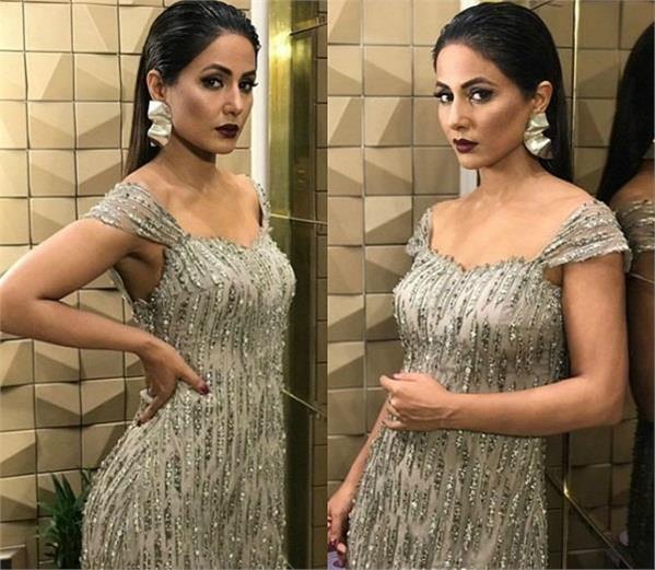 hina khan won the tag of stylish diva in gold awards 2018