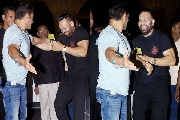 salman khan in fun with bodyguard shera