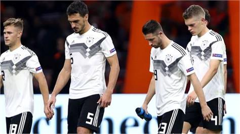 another defeat of germany  out of race for title in national league