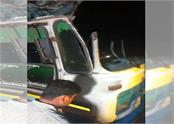 50 passengers injured in bus crash in karnal