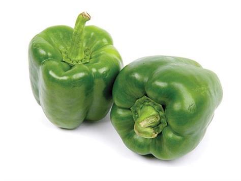 eating shimla pepper