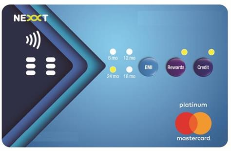 india first interactive credit card with buttons