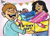 university campus students are gifting condoms and sanitary napkins