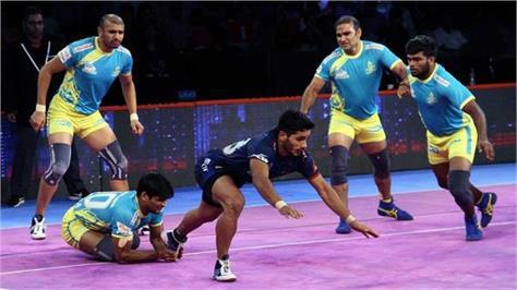 pro kabaddi league  tamil and haryana face tie