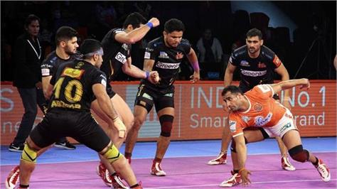 pro kabaddi league  the victory made by yu munnah on telugu titans