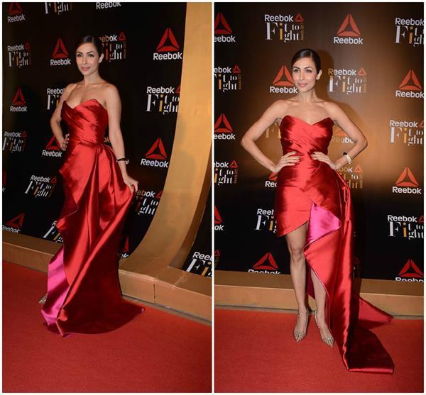 look at the hot red dress of malaika