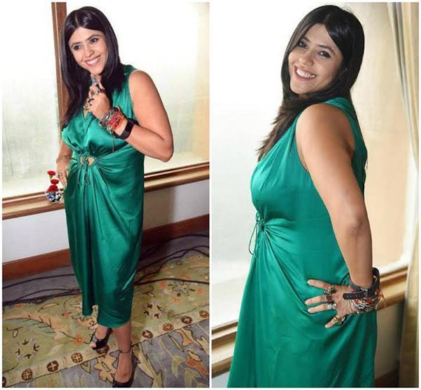 how to dress worn ekta on film promotion