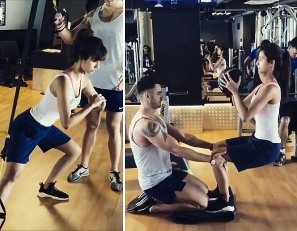 disha patani workout pictures