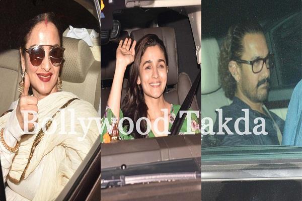 aamir khan to rekha at special screening of alia bhatt raazi