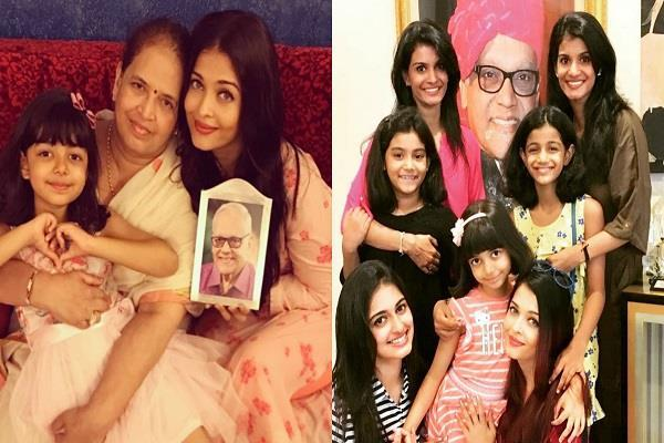 aishwarya rai shares family picture on fathers day