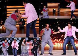 'डांस दीवाने' के सेट पर सुपरस्टार गोविंदा के साथ जमकर नाचे डब्बू अंकल, पैर छूकर किया सम्मान