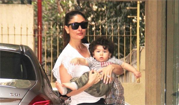 taimur ali khan adn kareena kapoor reaches karan johar house pictures