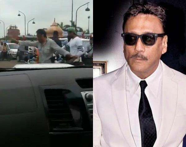 jackie shroff clears traffic in lucknow