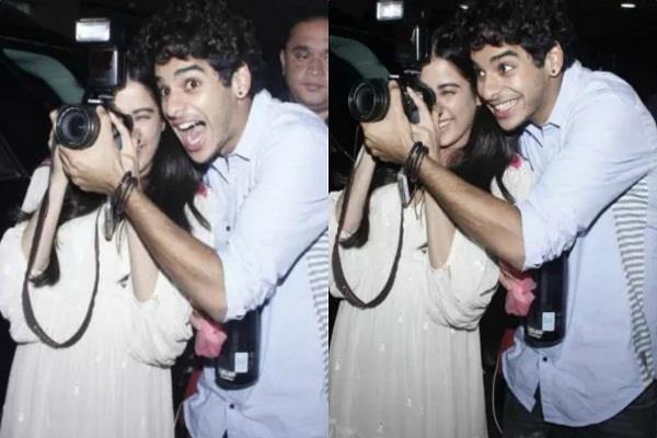 jhanvi kapoor and ishaan khattar spotted at airport