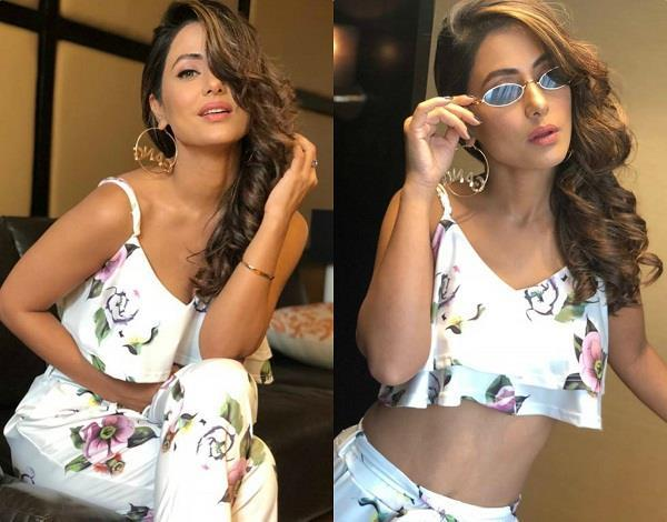 hina khan looks gorgeous in white dress