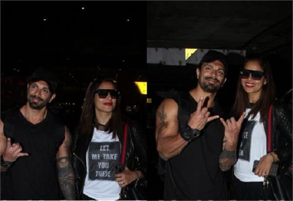 bipasha basu and karan singh grover return from london