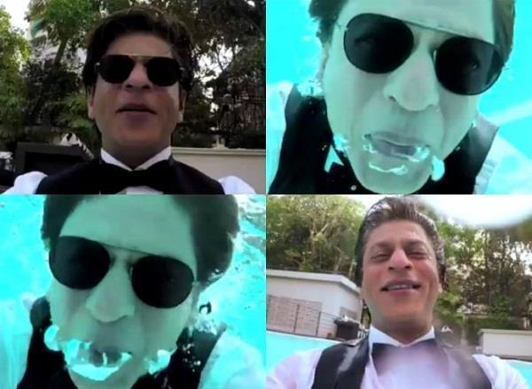 shahrukh khan shoots an underwater sequence for zero