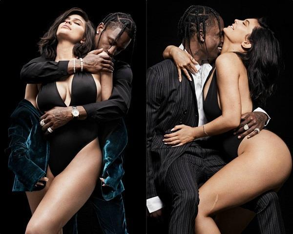 kylie jenner and travis scott gq photoshoot