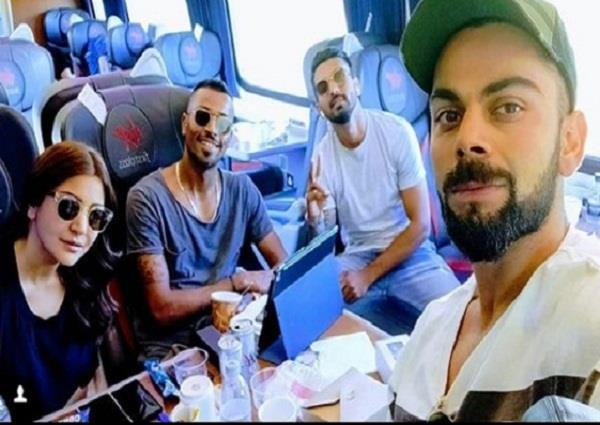 anushka sharma travels with her husband virat kohli