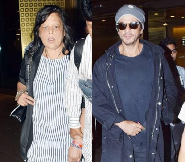 shahrukh khan spotted with sister shehnaz khan