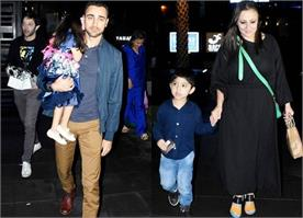 imran khan spotted at airport with family