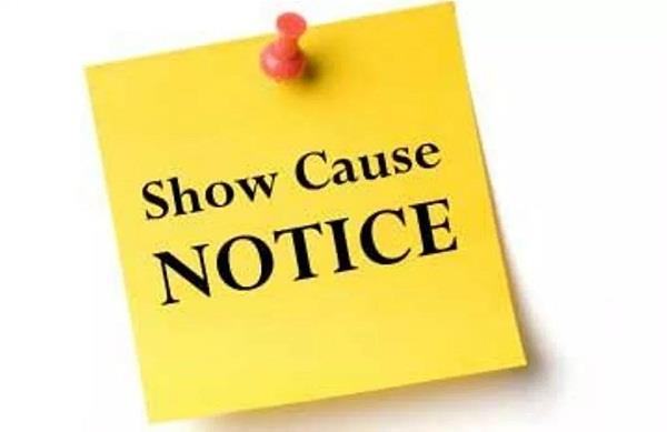 12 hospitals of checking  show cause notice to 6