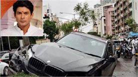 siddharth shukla car damaged in road accident