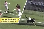 when dog made goalkeeper video