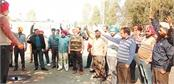 joint action committee protested against the government