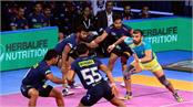 pro kabaddi league  tie between haryana and tamil is fought against