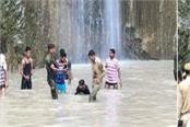 death of a woman in reasi waterfall