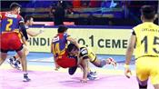 pro kabaddi league  up lost to home team in domestic competition