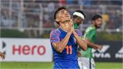 india s performance was no match to atmosphere at salt lake chhetri