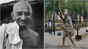 students protest in manchester over gandhi idol