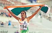 gomati gave india the first gold at the asian athletics championsh