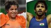 bajrang and sakshi to lead indian challenge in asian wrestling championship