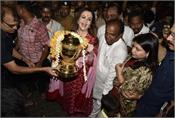 siddhivinayak temple arrives at taj mahal  taking the title of ipl 12  pictures