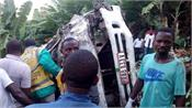 rwanda  8 dead  17 injured in road accident