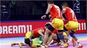 pro kabaddi league  gujarat beat patna in a thrilling contest
