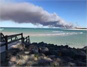 bribie island bushfire