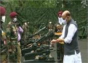 rajnath singh performs shastra puja at sukna war memorial