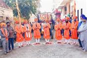 nagar kirtan dedicated to prakash dihare decorated at village dhoot khurd