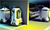 volkswagen teases an electric car charging robot