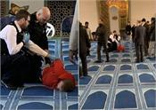 london  knife attack at mosque  one arrested