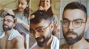anushka cuts her hair with virat  s kitchen scissors  video
