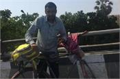 man from mumbai to jammu on a bicycle to meet his father