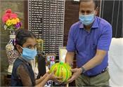 girl eid 12000 rupee covid 19 fund donation