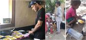 sehwag and family cook food at home with family for migrants